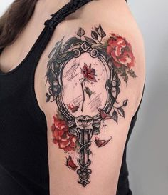 Amazing And Unique Arm Tattoo Designs For Women; Amazing And Unique Arm Tattoo; Lena Tattoo, Belle Tattoo, Arm Tattoo, Great Tattoos, Unique Tattoos, Beautiful Tattoos, Disney Tattoos Unique, Disney Tattoos Thigh, Tattoo Disney
