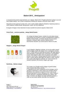 Comunicato stampa_anticipazioni iSaloni 2013