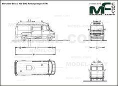 Mercedes-Benz L 408 BINZ Rettungswagen RTW - blueprints (ai, cdr, cdw, dwg, dxf, eps, gif, jpg, pdf, pct, psd, svg, tif, bmp)