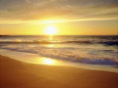 La Jolla Shores Beach on the Pacific Ocean at Sunset, San Diego, California, USA