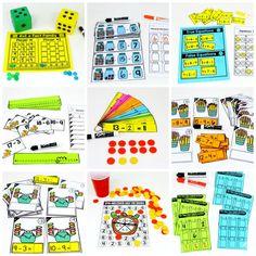 Bu eğlenceli 1. Sınıf Matematik etkinlikleri, öğrencilerin pratik bir şekilde pratik bir şekilde pratik yapmalarına yardımcı olur!