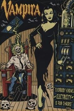 Vampira Comic Art by Vince Ray Vintage Horror, Vintage Cartoon, Vintage Comics, Creepy Vintage, Horror Movie Posters, Horror Comics, Horror Art, Sexy Horror, Halloween Kunst