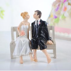Bride And Groom Resin Wedding Cake Topper (122036175)