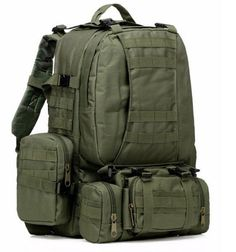Large Tactical Backpack-Sport Outdoor Military Rucksack Hiking Camping Mountain Climbing Backpack Combined with 3 MOLLE Bags(Army Green) Elite Backpack, Camouflage Backpack, Molle Backpack, Tactical Backpack, Rucksack Backpack, Travel Backpack, Tactical Gear, Backpack Camping, Army Camouflage