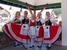 Alpine dancers in traditional costumes perform during Oktoberfest in Helen, Ga.  www.a-1vacationrental.com