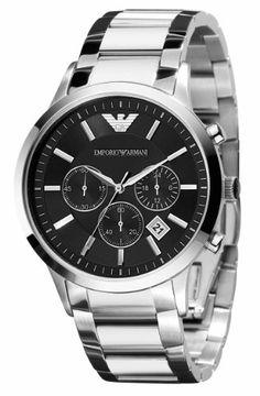 Emporio Armani Men's AR2434 Chronograph Stainless Steel Watch From Emporio Armani