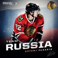 Artemi Panarin will play on Team Russia at the 2016 World Cup of Hockey…