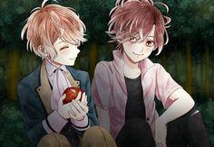 Shu Sakamaki and Yuma Mukami 【Diabolik Lovers】 Cute Anime Boy, Anime Art Girl, Anime Love, Anime Guys, Ruki Mukami, Ayato Sakamaki, Mystic Messenger, Diabolik Lovers Yuma, Mukami Brothers