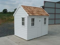 Wooden childrens playhouse