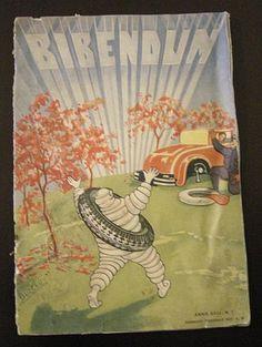 Rivista Originale Anni 30 Bibendum Michelin Pubblicità Marketing Illustrazioni Arredamento Idea regalo 1930 di VintageBooksPrints su Etsy