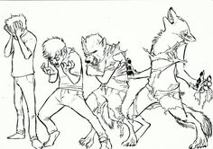 Werewolf TF! by MonoFlax.deviantart.com on @DeviantArt #transformation #werewolf #woof I think I've only ever shared one of these, which is insane, I absolutely love drawing transformation sequences, and I drew a lot of woofs today. Might collect them in a dump journal later :3