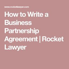 Things Every Partnership Agreement Needs To Address