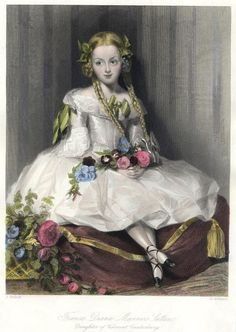 Francis Diana Manners Sutton, by John Henry Robinson Antique Prints, Vintage Prints, Art For Kids, Art Children, Tag Image, Art Journal Inspiration, Vintage Roses, Antique Dolls, Free Pictures