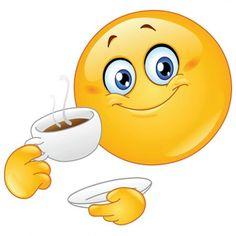 Time for a cuppa - Smiley Emotion - Bitmoji Animated Smiley Faces, Funny Emoji Faces, Funny Emoticons, Love Smiley, Emoji Love, Cute Emoji, Smiley Emoji, Bisous Gif, Emoji Craft