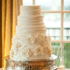 Draped White Cake / Kendall's Cakes / Hay Adams / Karson Butler Events