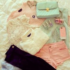 blouse pink jeans clothes outfit iphone style hair nail shirt white sweater all cute outfits short denim sweat joyful outfits purple jeans tank top blouse purple Cute Fashion, Look Fashion, Teen Fashion, Fashion Outfits, Womens Fashion, Pastel Fashion, Fashion Pics, Hipster Fashion, Fashion Clothes