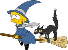 HALLOWEEN LISA SIMPSON WITCH CLIP ART