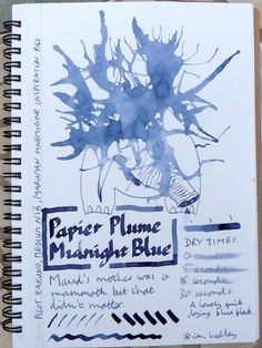 Papier Plume Midnight Blue Fountain Pen Ink Review