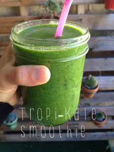 Tropi-Kale smoothie. Whole Foods #copycat #recipe