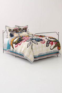 Beautiful bedding.