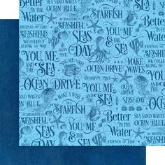 8 Sheets Graphic 45 Ocean Blue 12x12 Patterns & Solids Paper | Etsy Beach Scrapbook Layouts, Scrapbook Paper, Graduation Album, Mixed Media Scrapbooking, Friends Are Like, Graphic 45, Sticker Paper, Mini Albums, Card Making