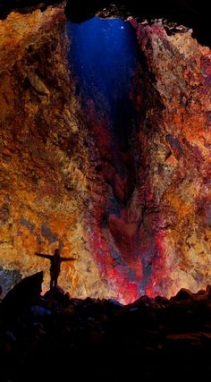 Walk inside Thrihnukagigur Volcano in Iceland. Enter its colossal magma chamber and feel the core of Earth.