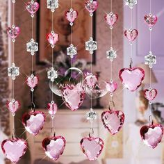 m free sipping Imitation crystal bead curtain partition entranceway finished product Hanging Door Beads, Hanging Crystals, Beaded Door Curtains, Mobiles, Porch Plants, Modern Curtains, Flower Backdrop, Pink Houses, Affordable Home Decor