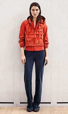 Tory Burch PREFALL 2014 — Look 5: Vivienne Jacket, Iliana Pant, Debbie Wedge