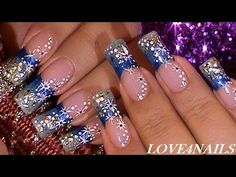 Spanish Channel Link: http://www.youtube.com/user/LOVE4NAILSenEspanol    Hello You Guys!!!    Happy Friday ~    Today I bring you a design I worked on a couple of weeks ago. I worked on this design before filing my nails down, but if you have shorter nails just bring the design down lower.    Well Guys Enjoy Your Friday, & Have An Awesome Weekend.      Mus...