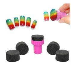 1 pak 5 stks nail art spons stempel stempelen poolse template transfer diy design kit deco