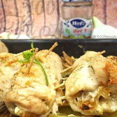 "1000 Fit Meals: RECETA FITNESS: Pechugas de pollo al horno rellenas de cebolla ""caramelizada"" sin azúcar."