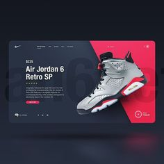 Nike Product Page Concept Design by Sergio Arteaga⠀ Graphisches Design, Web Ui Design, Layout Design, Logo Design, Nike Design, Website Design Inspiration, Graphic Design Inspiration, Daily Inspiration, Mise En Page Web