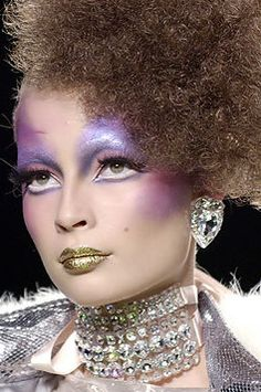 Looks like makeup from The Hunger Games