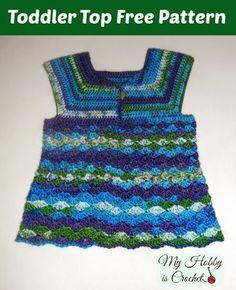 Iris Toddler Top - Free Crochet Pattern/ My Hobby is Crochet