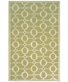 "Liora Manne Area Rug, Indoor/Outdoor Promenade 2117/16 Arabesque Sage 8'3"" x 11'6"""