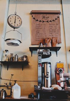 Tour of Hoboken Coffee Roasters on Emmadime. I like the way they have their menu
