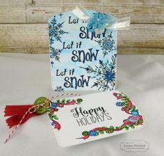 Christmas Tag Duo By: Kendra Wietstock #Tags, #WatercolorPanels, #Christmas, #Watercolor, #TE, #ShareJoy
