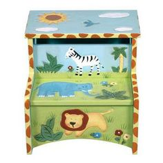 Step stool with animals