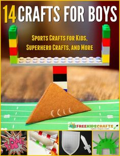 14 Crafts for Boys: Sports Crafts for Kids, Superhero Crafts, and More...We don't mean to say that girls can't enjoy the projects in this collection; we just did our best to gather the crafts we knew would appeal to the boys in the family. Encourage your little men to unlock their creativity with these amazing craft ideas for boys and turn crafting time into a fun-filled family event!