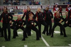 SVSU Dance Team performing at Halftime