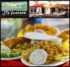JT's Seafood in Brewster. JT's Seafood Restaurant has been serving seafood, burgers, ribs, ice cream, beer and wine and more to Brewster since 1998. Our spotless restaurant is family-friendly and has plenty of seating both inside and outside.