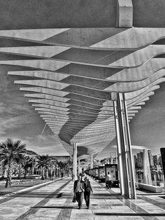 A series of black & white photos taken on a recent visit to Malaga, Spain