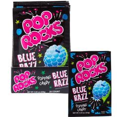 Blue Razz Pop Rocks 24ct - Party City