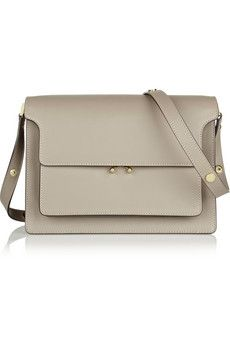Marni Trunk leather shoulder bag | NET-A-PORTER