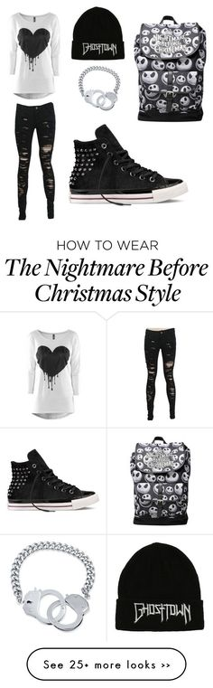 Its black by audrey-is-8-ok on Polyvore featuring BERRICLE and Converse