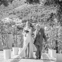 """""""Proud father walking the bride"""" Photography by Greg Korvin at Sol Wedding Marbella. Cristina & Tony's wedding film & photography by Venue: - - # Bella Wedding, Wedding Film, Wedding Cinematography, Bride Photography, Father, Walking, Wedding Dresses, Pai, Bride Dresses"""
