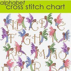 Fairy Alphabet Cross Stitch Chart PDF £5.00