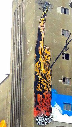 Olga Vati _Photography-Piraeus Port_ Graffiti στο #λιμένα του #Πειραιά- O #θεός #Ποσειδώνας ( God Poseidon ) Street Art Graffiti, World, Painting, Painting Art, Paintings, The World, Painted Canvas, Drawings
