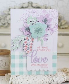 Love One Another Card by Melissa Phillips for Papertrey Ink (December 2016)