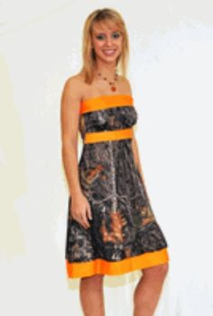 6821459efe Camo   orange.. want this for my dress at the shower Cowgirl Wedding